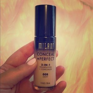 Milani conceal and perfect foundation. Shade 00B